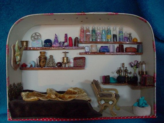 Apothecary bedroom wizard/ witch room box with by EmmasAtticStudio