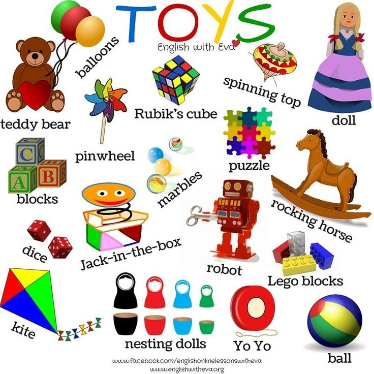 Vocabulary - TOYS        Repinned by Chesapeake College Adult Ed. Free classes on the Eastern Shore of MD to help you earn your GED - H.S. Diploma or Learn English (ESL).  www.Chesapeake.edu