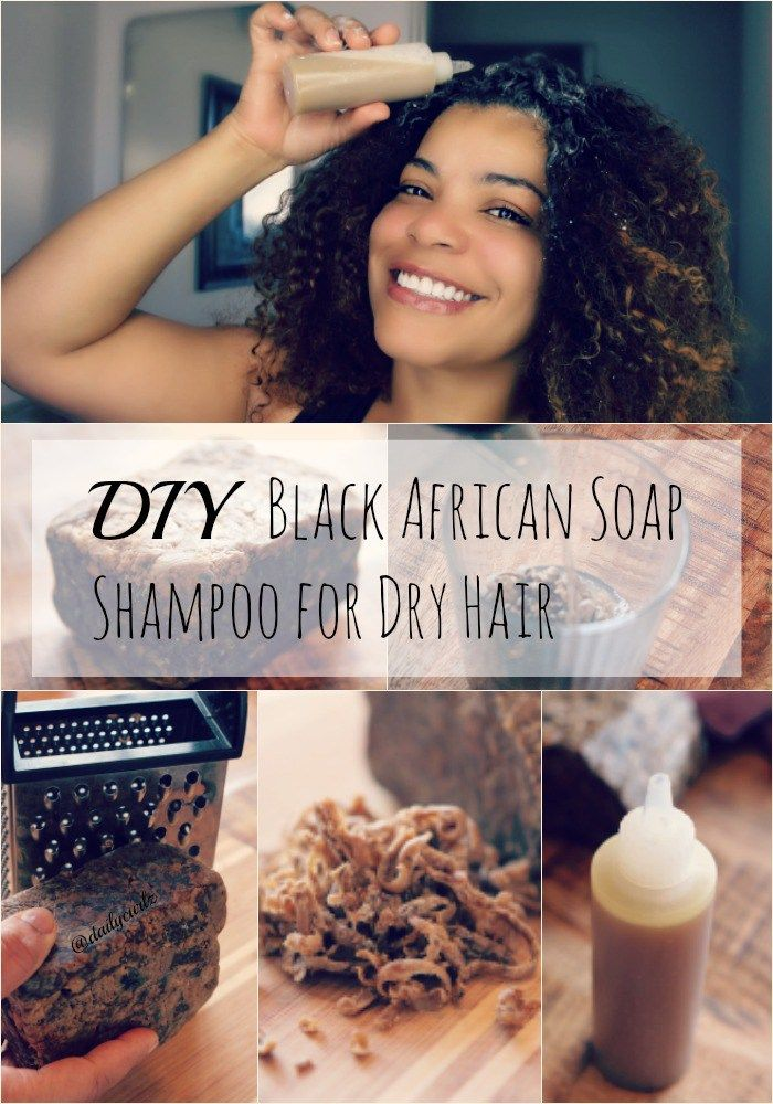 Diy Black African Soap Shampoo for dry hair with your favorite ingredients, a great source of vitamin A, Vitamin E, and iron which makes the hair...