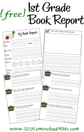 Download these free 1st grade book report printables at 123 Homeschool 4 Me. Find more free homeschool printables here!