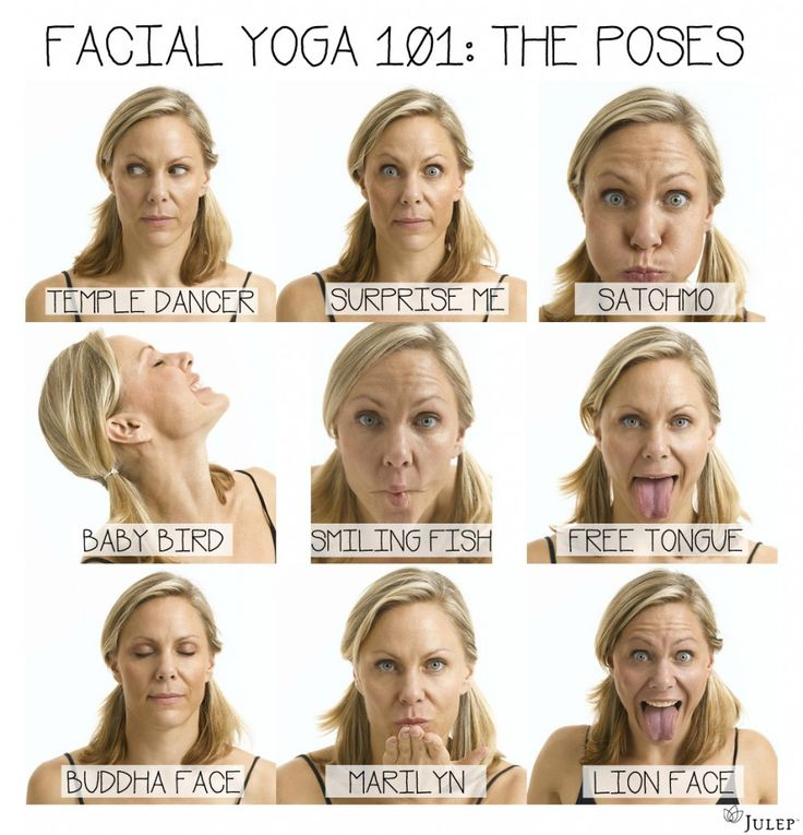 Facial Yoga & Exercises to Reduce Wrinkles. I do these and recommend them:)