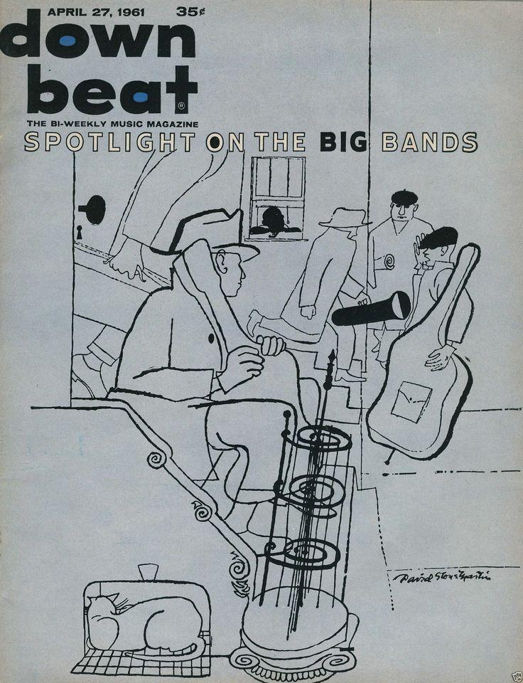 Down Beat Magazine, April 27,1961 Illustration: David Stone Martin.