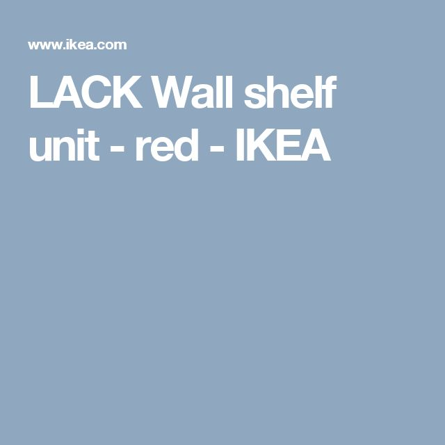 LACK Wall shelf unit - red  - IKEA