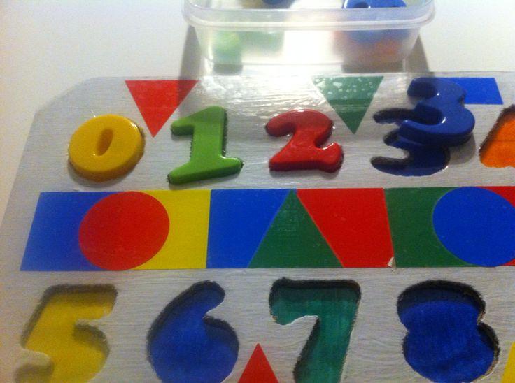 Puzzle pour apprendre les chiffres