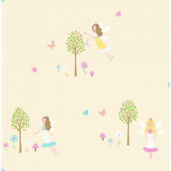 Decorline Carousel Fairy Garden Childrens Wallpaper Yellow - Decorline from I love wallpaper UK