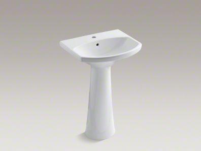 Kohler Cimarron pedestal sink w/single faucet.  23in.  K2362-1-0  $242Guest Room, Powder Room