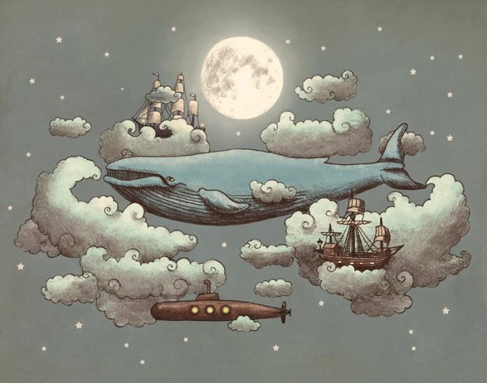 Ocean Meets Sky #illustration