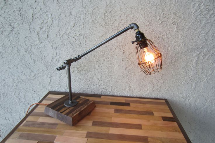 71 best images about iron pipe furniture on pinterest for Gas pipe desk lamp