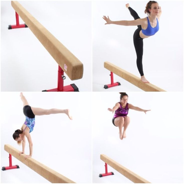 FIG STYLE ADJUSTABLE LEG GYMNASTIC BEAM IN COMPETITION GRADE SUEDE GYM FACTOR