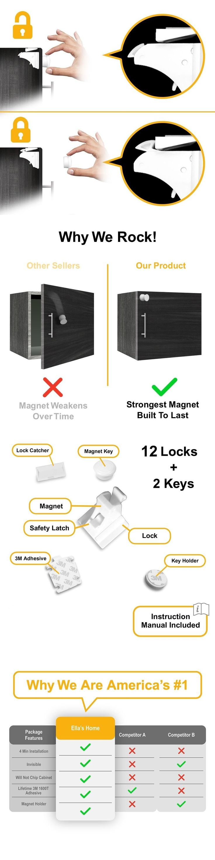 206 best Baby Locks and Latches images on Pinterest