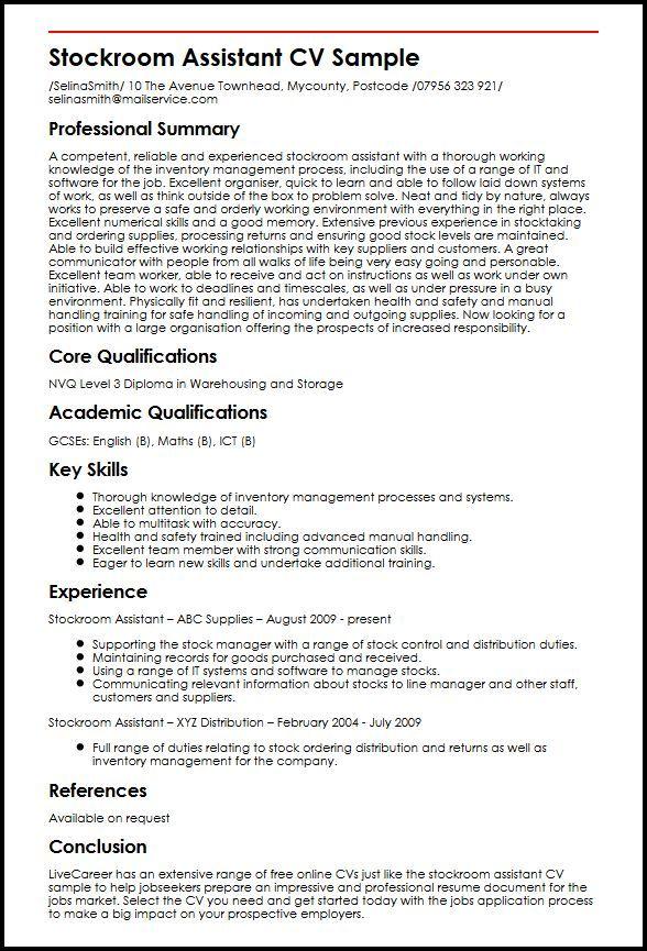 Cv Template Key Skills Cvtemplate Skills Template Resume Skills Resume Examples Overused Words