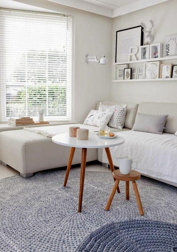 gestaltung ideen bilder wohnzimmer couchtisch rund