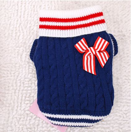 Домашнее животное морской синий свитер зима тёплый домашнее животное одежда собака одежда , чем плюшевый медведь