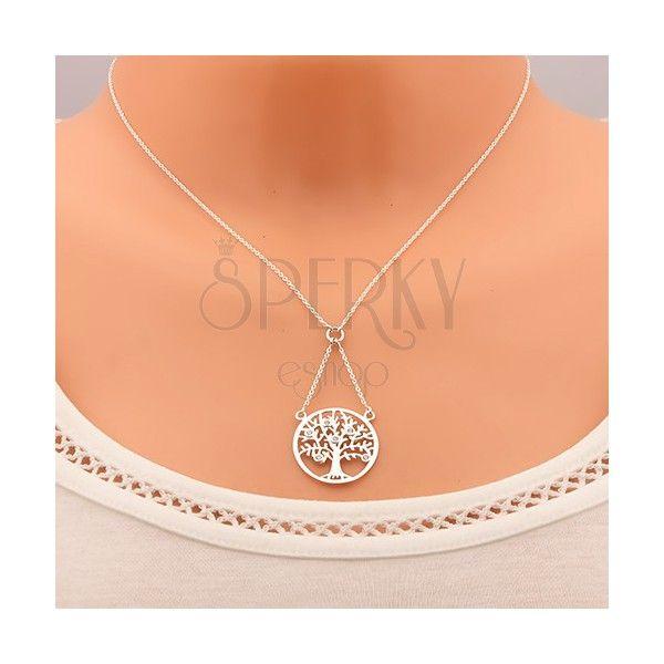 Náhrdelník ze stříbra 925, řetízek a přívěsek - strom života zdobený zirkony | Šperky Eshop