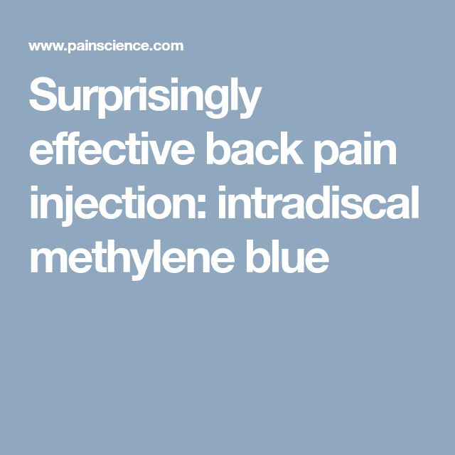 Surprisingly effective back pain injection: intradiscal methylene blue