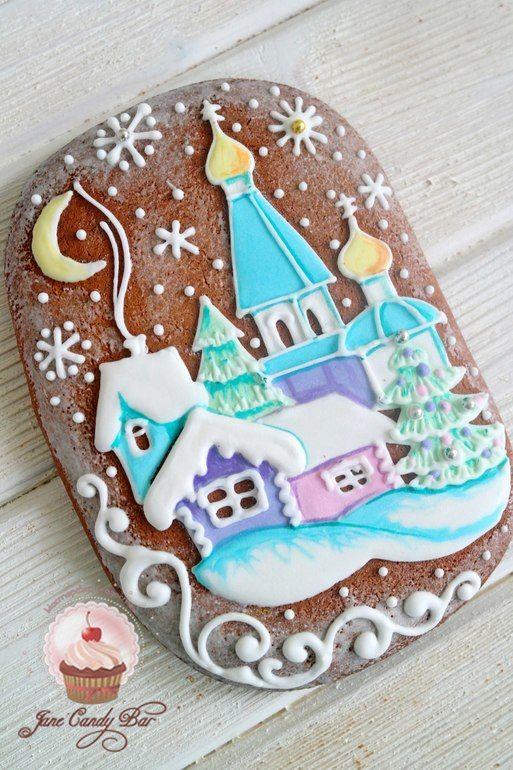 Рождественские пряничные открытки