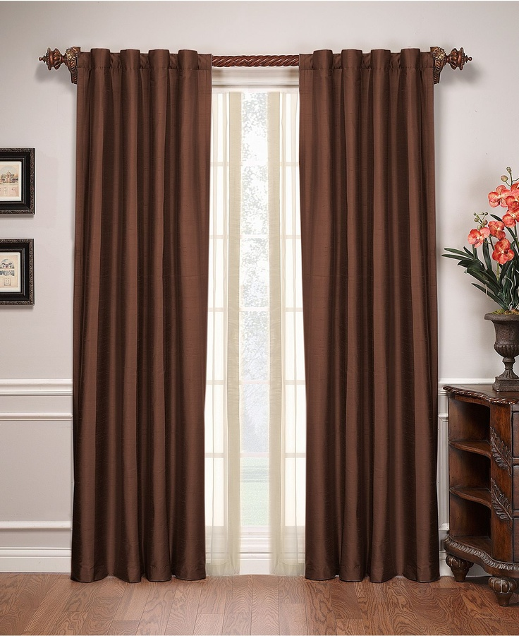 Brown Curtains - Living Room
