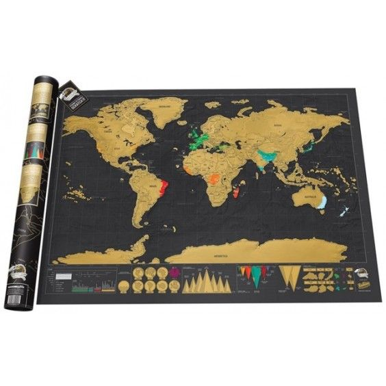 Scratch Map - Deluxe - Christmas Catalogue - Our Products - Entropy Australia Great to introduce kids to different countries and this makes map reading fun #EntropyWishList #PintoWin