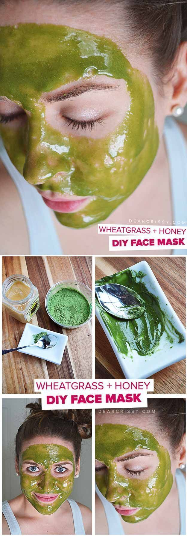 DIY Face Masks for Every Skin Problem - DIY Wheatgrass & Honey Face Mask - Easy Homemade Face Masks For Blackheads, For Acne, For Dry Skin and Remedies That Will Make Your Skin Glow - These Peel Ideas are Great For Teens and For Kids - Coconut Oil Recipes That Are Great For Pores and For Wrinkles - https://thegoddess.com/diy-face-masks #homemadefacemasksforkids #homemadefacemasksforwrinkles