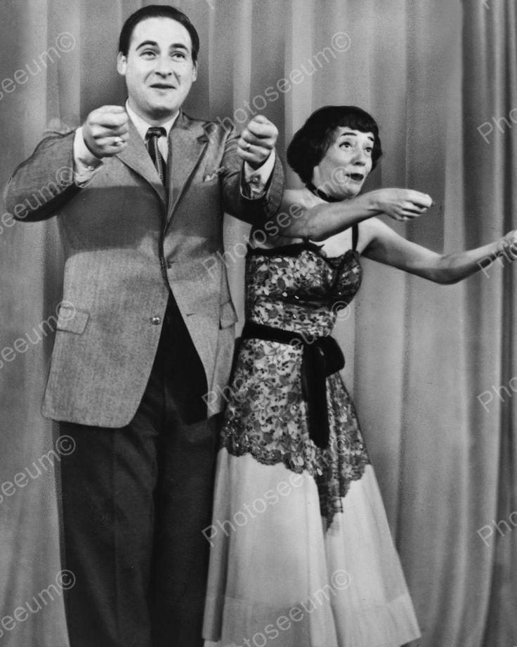 Sid Caesar & Imogene Coca Performing 1954 Vintage 8x10 Reprint Of Old Photo