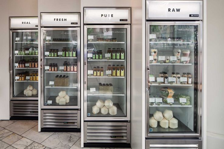 Filled juice fridges