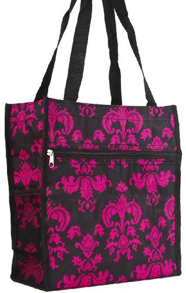 World Traveler Damask Print Collection Travel Tote Bag 12-inch None