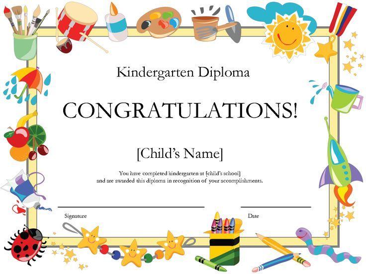 kindergarten graduation certificate | Free Printable Kindergarten Diploma: