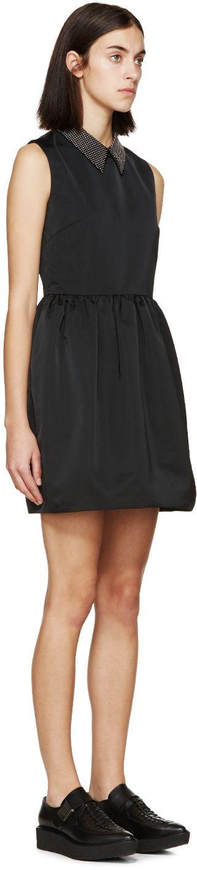 McQ Alexander Mcqueen - Black Studded Collar Party Dress #alexandermcqueen