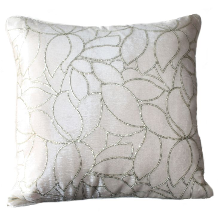 Get ready to change the look of your living room by picking this cushion cover which is in Ivory/ White colour Velvet fabric. The sequence work in Silver color give this cushion cover extra beauty and elegance. Not only that, this cushion cover will blend well with most interior types. FEATURES : 16 Inch * 16 Inch / 40.5 cm *  40.5 cm