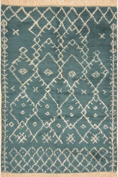Beautiful Teal Moroccan Rug