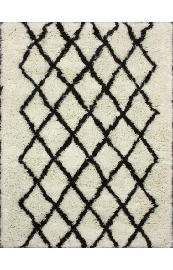 Tuscan Modern Moroccan Shag Ivory Rug Contemporary Rugs
