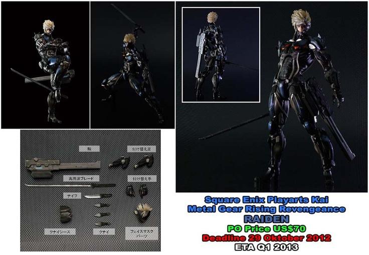 Square Enix Playarts Kai  Metal Gear Rising Reveangence : RAIDEN  PO Price US$70  Deadline 29 Oktober 2012  ETA Q1 2013