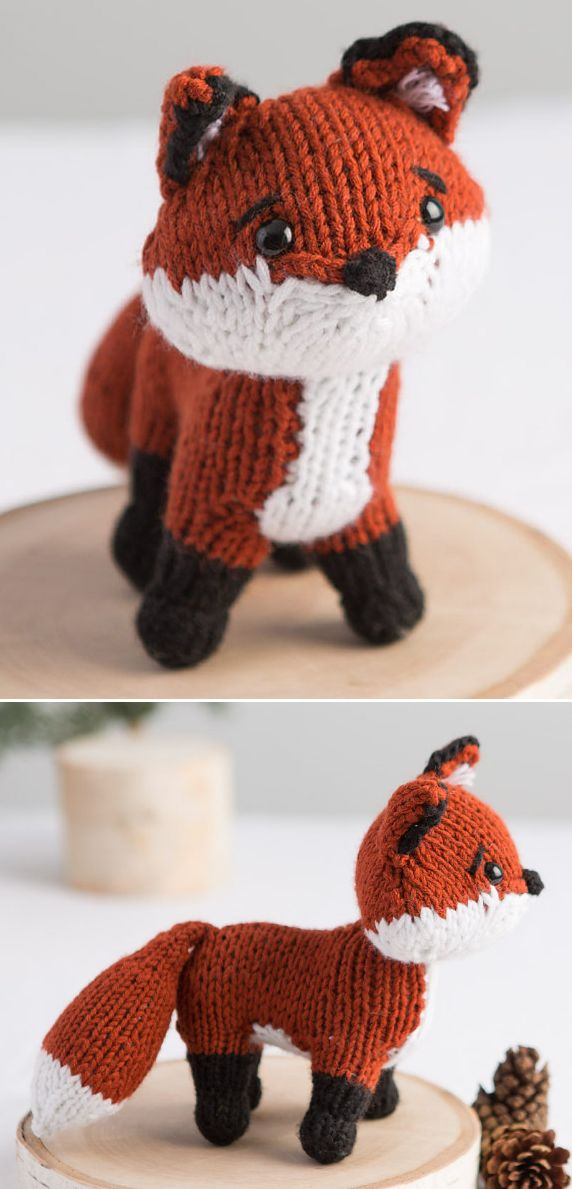 Free Knitting Pattern and Class for Fox Toy - Pattern and instructional video class available for free with a free trial at Creativebug. Megan Kreiner – professional maker of cute critters – walks you through every step of how to knit this tiny fox in worsted-weight yarn. The finished fox is 7″ x 5″. You can also purchase pattern and class individually if you don't want the free trial.
