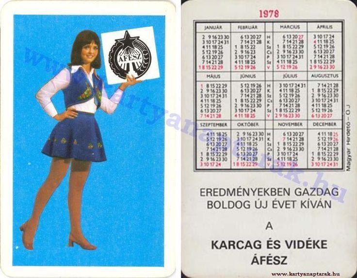1978 - 1978_0915 - Régi magyar kártyanaptárak