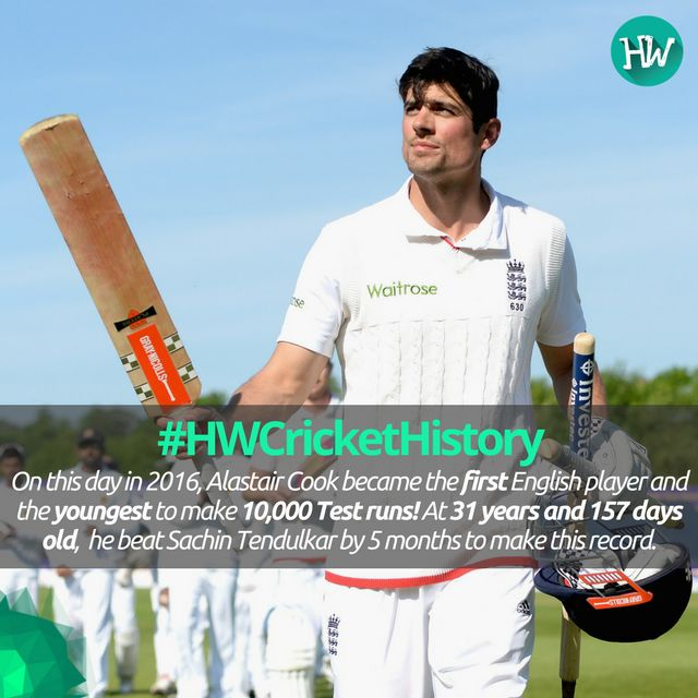 #HWCricketHistory On this day in 2016, Alastair Cook made history. #ENG #CT17 #ENGvSA