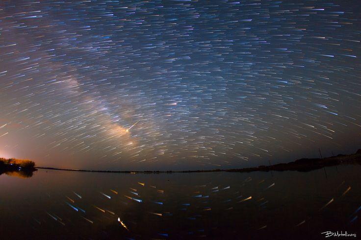 Stellar traces above Lagoon Korission - Stellar traces above Lagoon Korission, Corfu