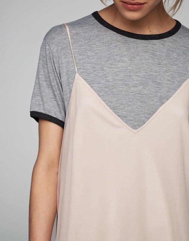 Платье из тюля розового цвета - Платья - Одежда - Для Женщин - PULL&BEAR Российская Федерация