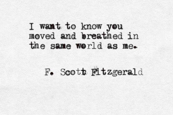 F. Scott Fitzgerald//