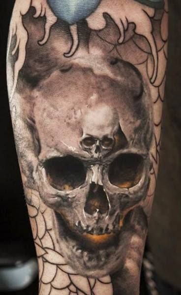 #☮✿★ SKULL TATTOO ✝☯★☮ http://tattoo-ideas.us