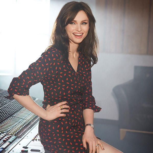 English pop singer Sophie Ellis-Bextor posing for British retailer Marks & Spencer's digital magazine Style & Living, United Kingdom, 2014, photograph by Eric Frideen.