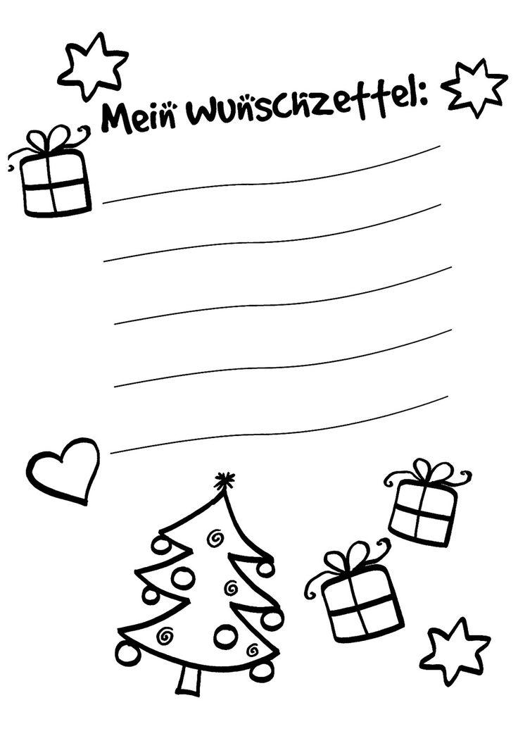 Ausmalbild Wunschzettel Fur Weihnachten Wunschzettel Zum Ausmalen Kostenlos Ausdrucken Wunschzettel Wunschliste Weihnachten Weihnachten Zum Ausmalen
