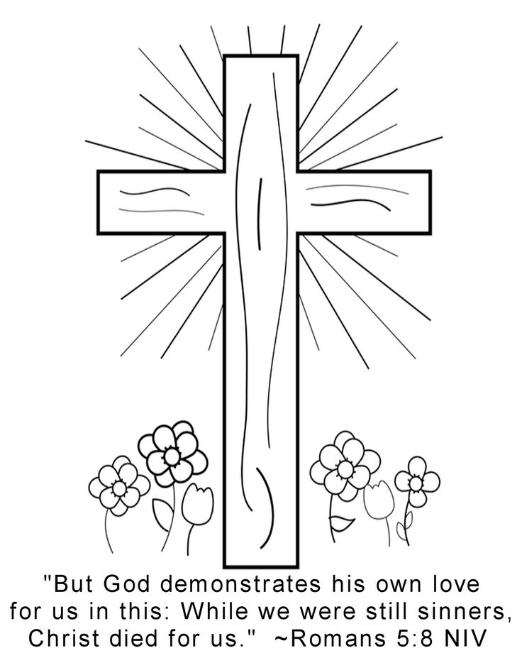 Romans bible verse coloring pages sketch coloring page for Memory cross template