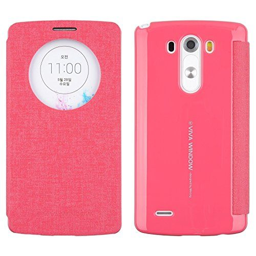 nice [HotPink] Mercury Goospery Viva G3 [Quick Circle View] Slim Wallet Flip Cover Case Auto Window ON/OFF, Card Slot for LG G3 in AT&T, Sprint, T-Mobile, Verizon and International Version LG G 3