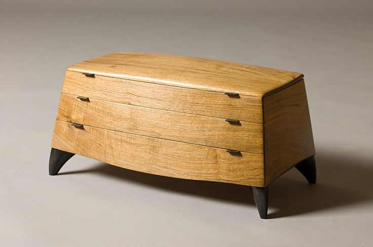 Sjoerd van Waart - Jewellery Box - English Walnut, American Maple, Jarrah