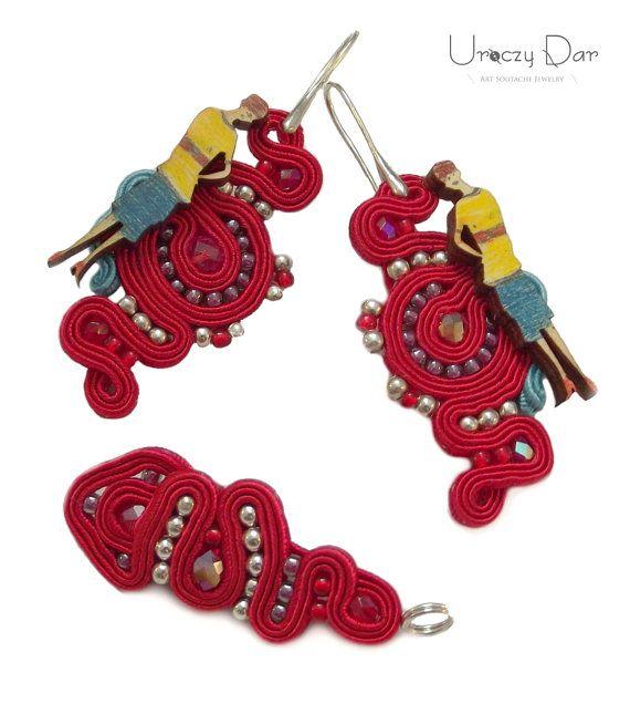 Set of soutache jewelry with Madame Chic by UroczyDar on Etsy
