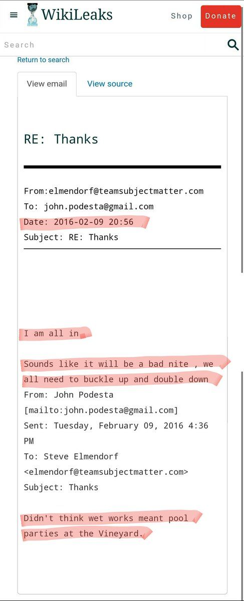 """There's an email from the recent Wikileaks drops that is causing a big stir on the internet.  The email refers to his death and the """"bad night"""" that will likely proceed.  Where it turns interesting is when one of the emailers uses the term """"wet works""""when discussing his actual death.  """"Wet Wo"""