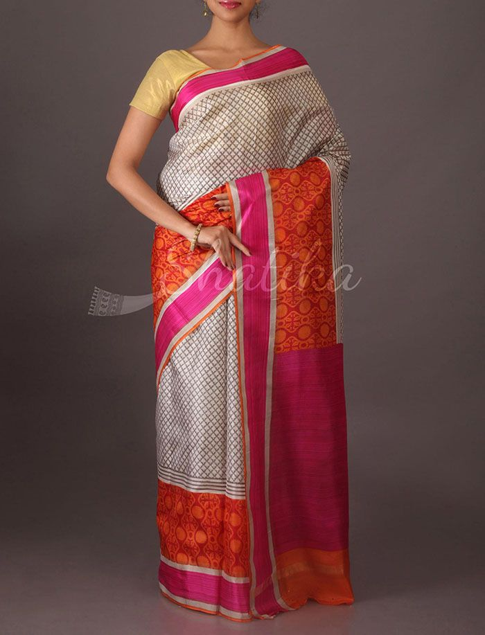 Sheetal Stylish Printed #SilkSaree in Multi Color Border