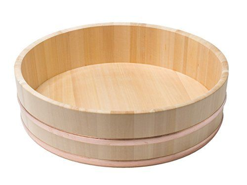 Sushi oke is a large flat bottomed wooden mixing tub. It is traditionally used when making sushi rice. It is important to use a non-metallic container because this prevents any interaction between the rice vinegar which will be added to the rice and any metallic material. The wood also serves to... see more details at https://bestselleroutlets.com/home-kitchen/kitchen-dining/cutlery-knife-accessories/specialty-knives/product-review-for-japanbargain-s-2150-japanese-sawara-cypr