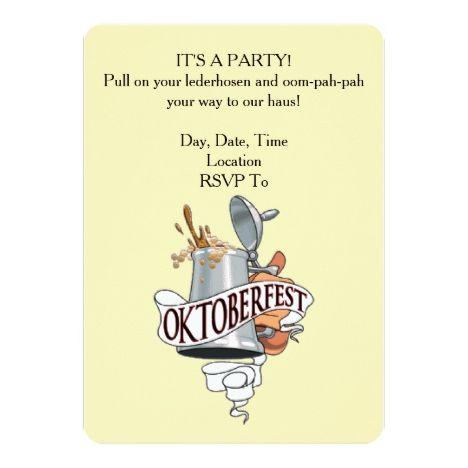 Es ist eine Party! Oktoberfest Party Einladungen | Zazzle – Great Oktoberfest Party Invitations