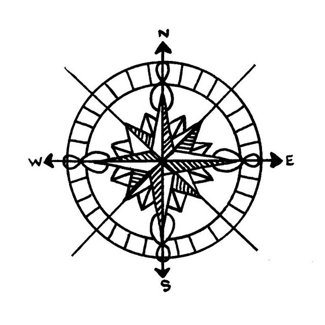 Compass Tattoo Line Drawing : Best images about draw compass on pinterest